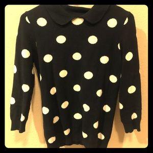Black & White Polka Dot Sweater